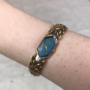 Citizen Elegance gold blue chain link watch Japan